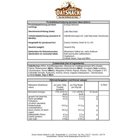 Energy OatSnack Bar 65/70g Latte Macchiato